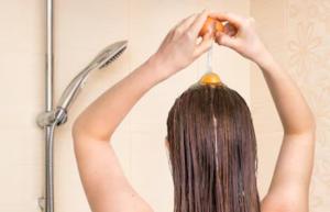 shampoing à l'oeuf