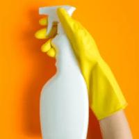 Spray vaporisateur gant jaune